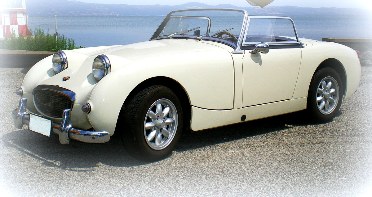 Austin Healey Sprite Mk1 del 1959 colore withe hold english